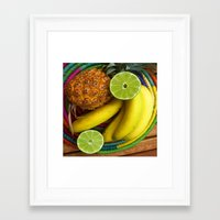 Banana Pineapple Lime Framed Art Print