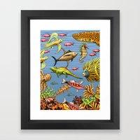 Zissou's Ocean Framed Art Print