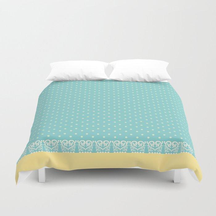 soft blue polka dots duvet cover by torika society6. Black Bedroom Furniture Sets. Home Design Ideas