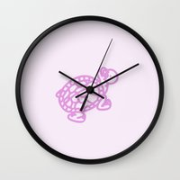 Pink Turtle Wall Clock