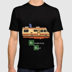 Breaking Bad 8 bits Mens Fitted Tee Black SMALL