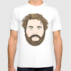 Zach Galifianakis White SMALL Mens Fitted Tee