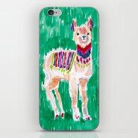 Festive Llama iPhone & iPod Skin