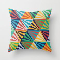 Color Triangles - Basic Throw Pillow