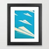 Paper Squadron Framed Art Print