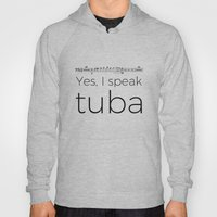 Tuba rests (white) Hoody