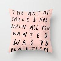 THE ART OF Throw Pillow