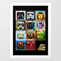 App Icon Wars Collected … Art Print