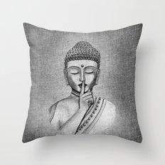 Shh... Do not disturb - Buddha Throw Pillow