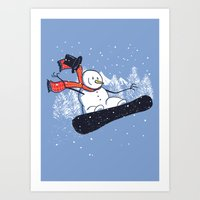 Snow Ahead! Art Print