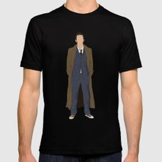 David Tennant as Dr Who SMALL Mens Fitted Tee Black
