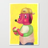 My Kind Of Burger Canvas Print