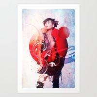 Data Kiss Art Print