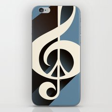 Steal Blue Retro Music & Peace iPhone & iPod Skin