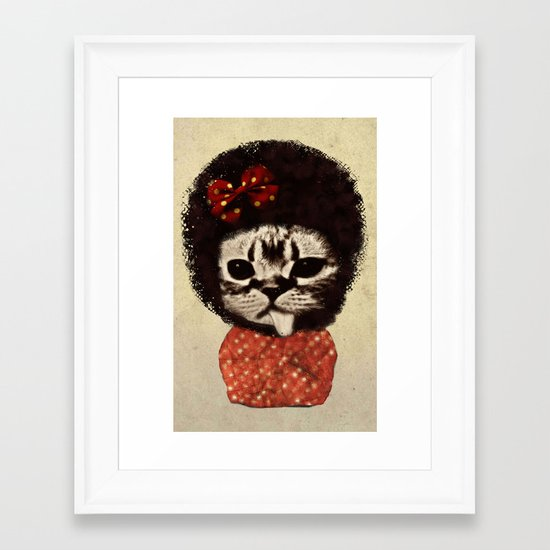 Cat (Pack-a-cat) Framed Art Print