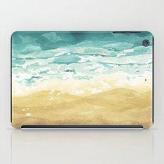 Minimalist Shore - Beach Painting iPad Case