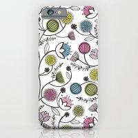 Black Border Florals iPhone 6 Slim Case
