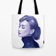 Audrey Hepburn Watercolor Portrait Tote Bag