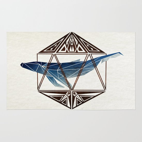 whale in the icosahedron Area & Throw Rug
