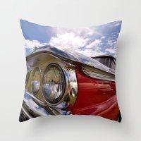 Classic 50's American Car Throw Pillow