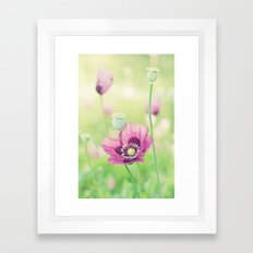 Poppy love Framed Art Print