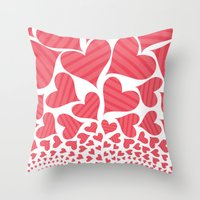Bursting Hearts Throw Pillow