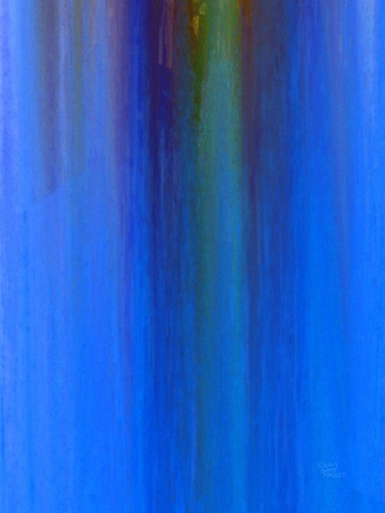 Blue Falls Art Print