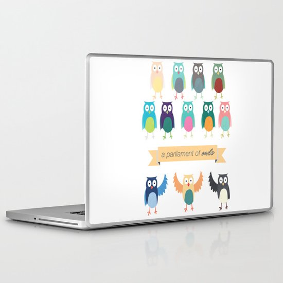 A Parliament of Owls Laptop & iPad Skin