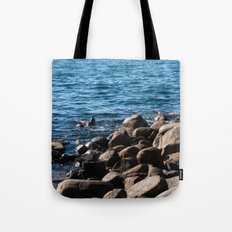 Rocks on the Water Tote Bag