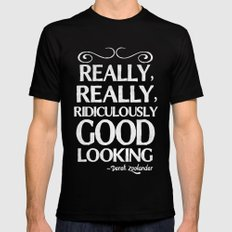 Really, really, ridiculously good looking (Zoolander). SMALL Black Mens Fitted Tee