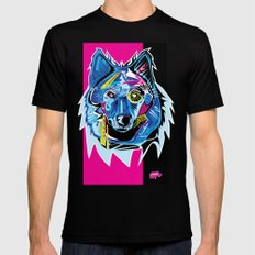Lazer Wolf Mens Fitted Tee Black SMALL