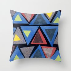 Collage Triangle Pattern Throw Pillow