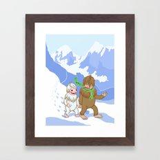 Snow Day! Framed Art Print