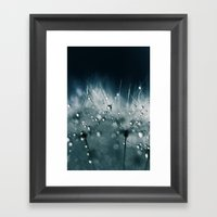 Dandelion Teal Framed Art Print