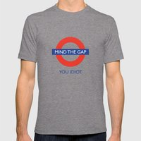 Mind The Gap Mens Fitted Tee Tri-Grey SMALL