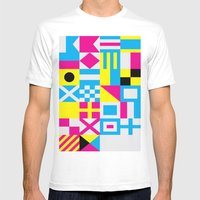 Nautical Alphabet CMYK Mens Fitted Tee White SMALL
