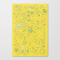 Super Mega Turbo Doodle … Canvas Print