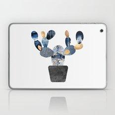 Blue & Gold Cactus Laptop & iPad Skin