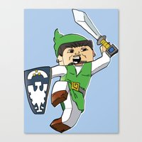 A Link To The Block Canvas Print