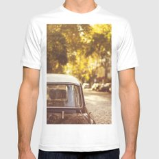 Autumn streets SMALL White Mens Fitted Tee