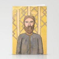 Bearded Men Stationery Cards