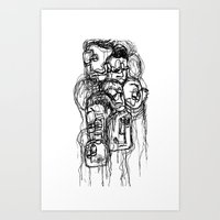 Bobblehead sketch Art Print