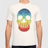 Paper Skull Mens Fitted Tee Natural SMALL