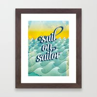 Sail On Sailor, Framed Art Print