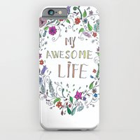 iPhone & iPod Case featuring Awesome  Life Color by Ioana Stef