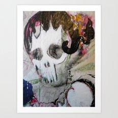 Day of the Dead Flamenco Dancer Portrait Art Print