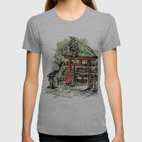 Yoshida Jinja Womens Fitted Tee Athletic Grey SMALL