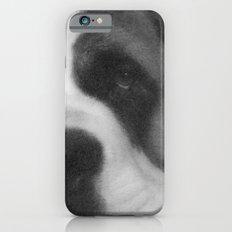 St. Bernard Portrait -- Black & White iPhone 6 Slim Case