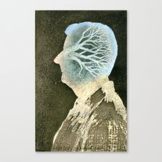 Self-portrait with a tree Canvas Print