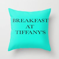 Breakfast At.. Throw Pillow